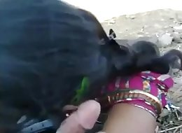 5349163 indian blowjob her lover outdoor